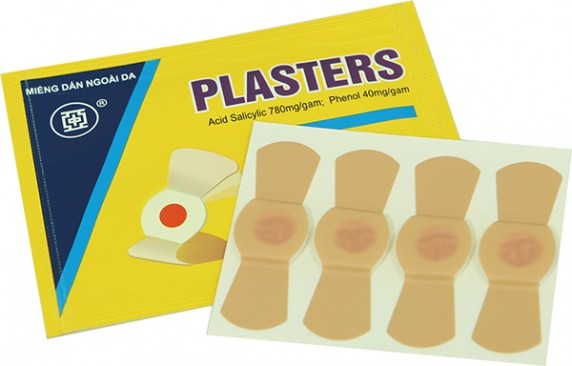 miếng dán trị mụn cóc, mụn hạt cơm plaster