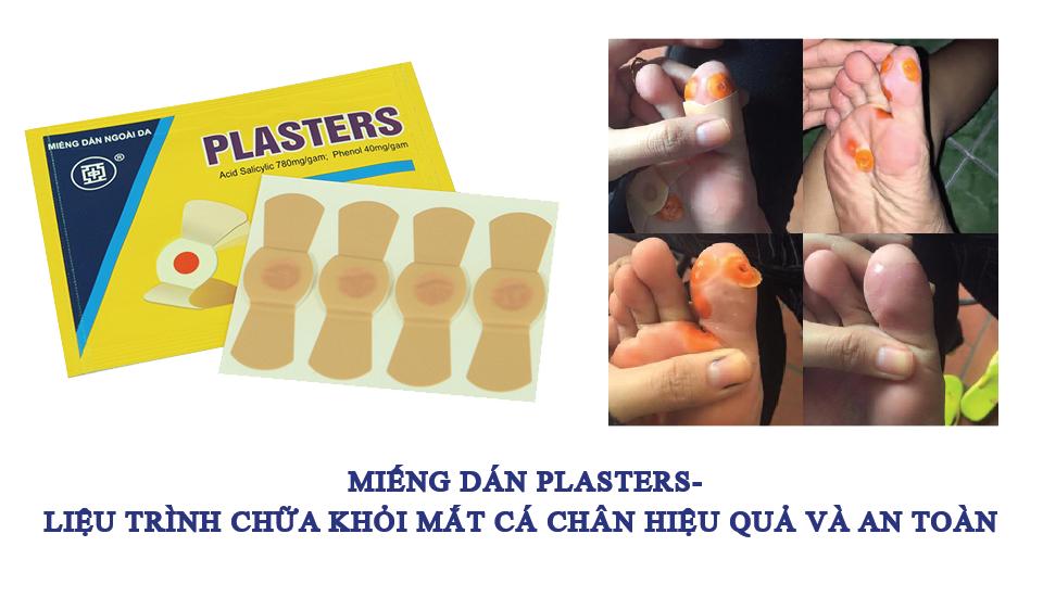 Chưa khỏi mắt cá chân bằng plasters